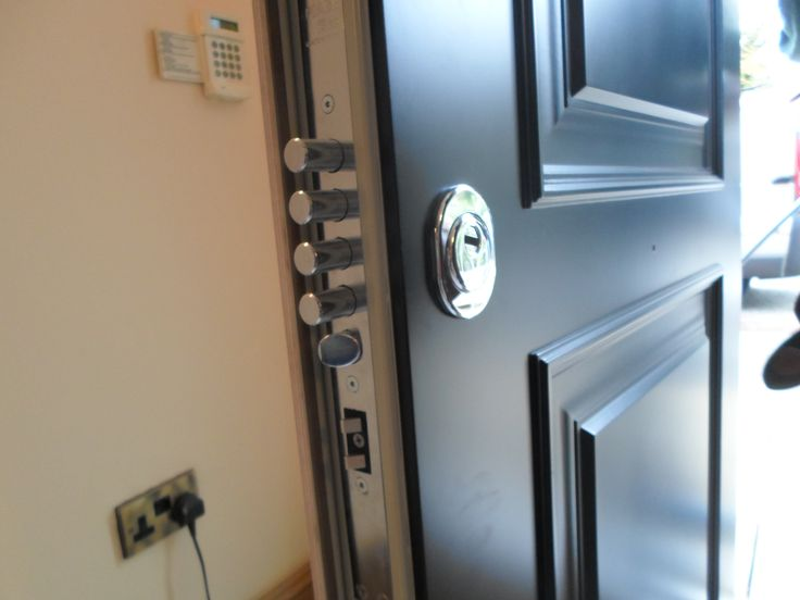 Newly installed high security door with fingerprint ...