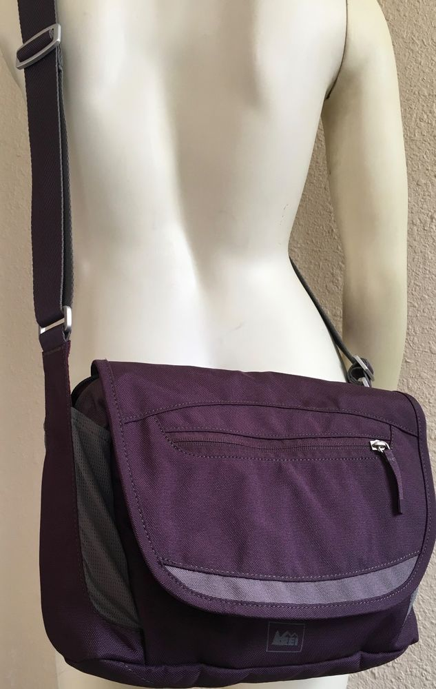 Rei Crossbody Small Messenger Bag Purse Burgundy Grey Anti Pickpocketing Cross