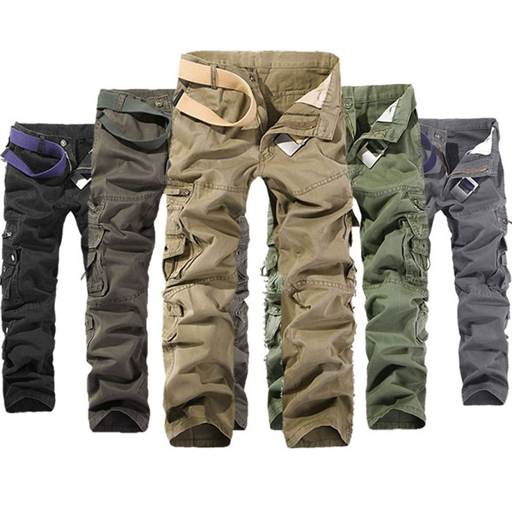 Details about MENS FASHION ARMY CARGO CAMO COMBAT MILITARY WORK ...