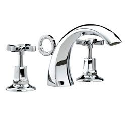 Bristan Art Deco 3 Hole Basin Mixer Chrome Plated With Ceramic DiscsD 3HBAS C CD  View the full range of Bristan Taps available from Trading Depot by clicking here: http://www.tradingdepot.co.uk/DEF/catalogue/O023001/Kitchen%20&%20Bathroom%20Taps/By%20Manufacturer/Bristan%20Kitchen%20&%20Bathroom%20Taps