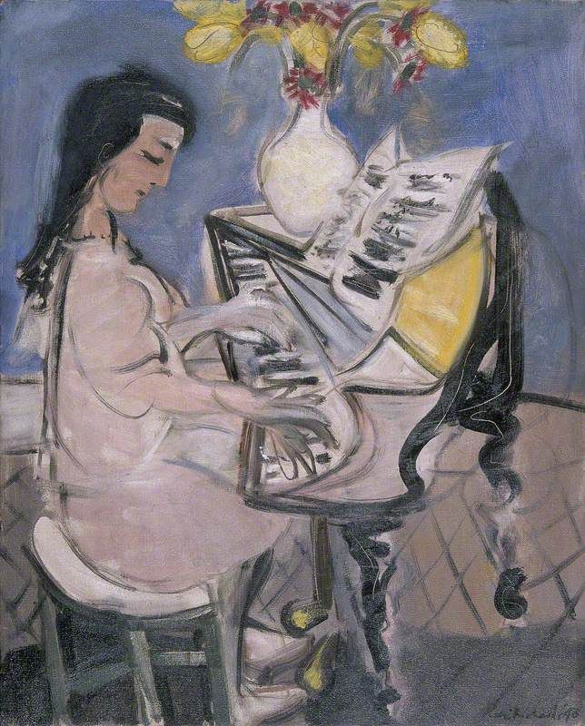 ceri giraldus richards(1903–71), the pianist, 1948. oil on canvas, 53 x 42.7 cm. national museum of wales / amgueddfa cymru, uk http://www.bbc.co.uk/arts/yourpaintings/paintings/the-pianist-162104