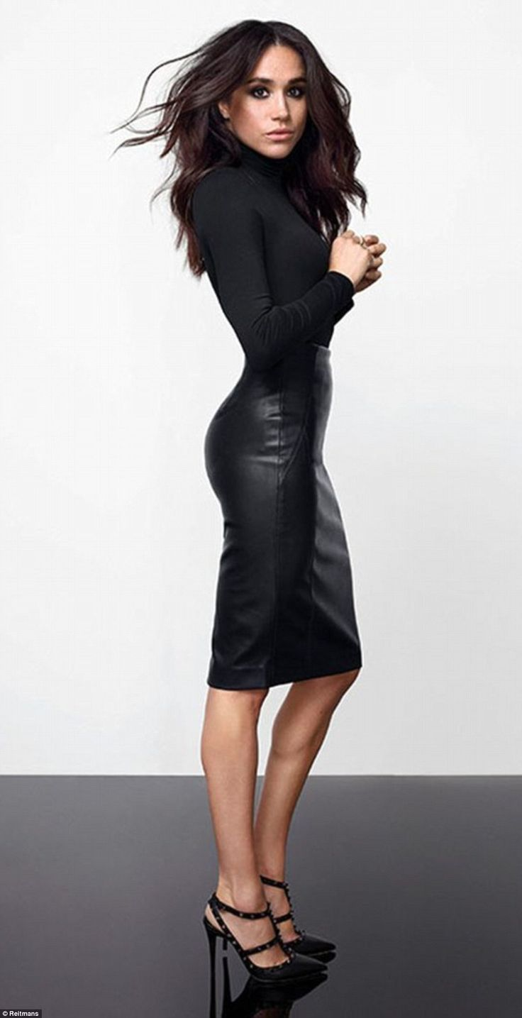 Prince Harry's new girlfriend Megan Markle, 35, showcases her enviable figure and modelling prowess as she shows off her new fashion range for Canadian store, Reitmans