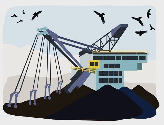 Illustration zum Braunkohleausstieg in der Lausitz #renewableenergy #renewableresource #coal #vattenfall #opencastmining #digital #editorial #lausitz #braunkohle #ausstieg #eco #greenenergy #instaarts #instaartist