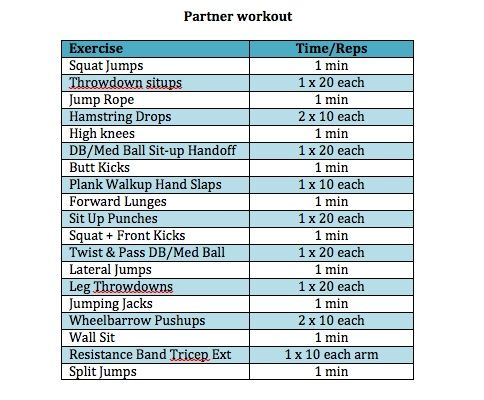 So many awesome workouts!