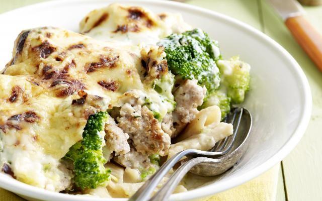 Macaroni met gehakt en broccoli