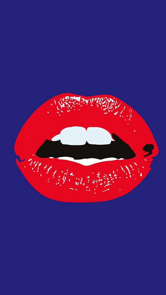 Iphone lips wallpaper