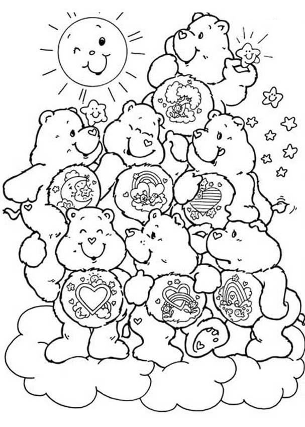 242 Best Crafty 80s Care Bears Coloring Images On Pinterest - care bear colouring pages to print