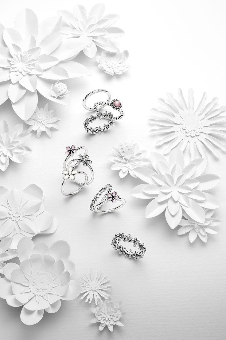 Delicate floral rings in soft hues are a must this season. #PANDORA #PANDORAring