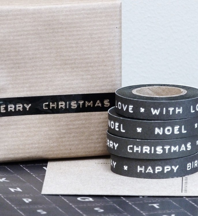 Happy christmas masking tape | Xmas decoration . Weihnachtsdekoration . décoration | @ Zink & Zo  |