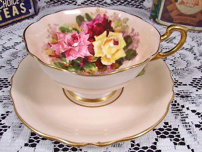ROYAL STAFFORD ELIZABETH FLORAL CHINTZ WIDE MOUTH TEA CUP AND SAUCER   Antiques, Decorative Arts, Ceramics & Porcelain   eBay!