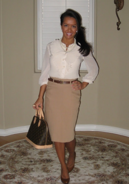 12 best images about Work Outfits - Brown Skirt on Pinterest ...