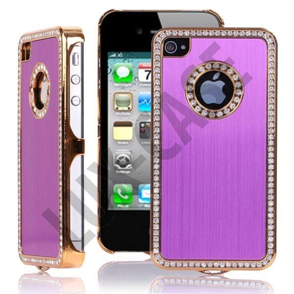 Jewel Golden Edge (Lilla) iPhone 4/4S Deksel