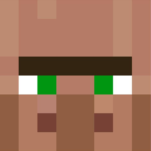 Villager face | Minecraft Faces