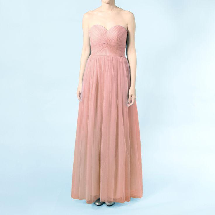 インフィニティロングドレス・ボビネット(ブラッシュピンク)結び方のアレンジ次第ででスタイルを楽しめるインフィニティロングドレス。 #Bridesmaid #Wedding #Dress #Pink #Pastel