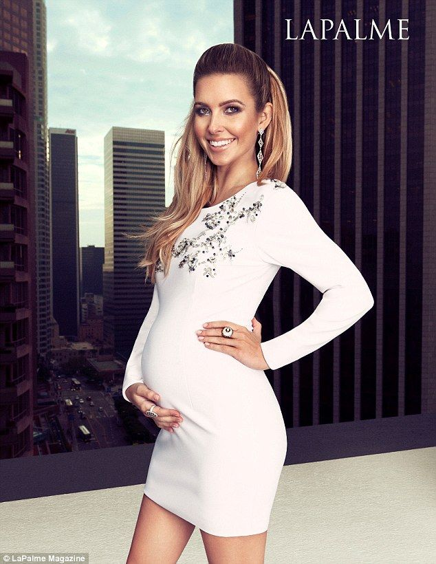 Audrina Patridge.. THOMAS WYLDE dress, Jolie Jewelry Co.  earrings, and LODOVICO ZORDANAZZO heels.. LAPALME Magazine.. #stylethebump #chicbump