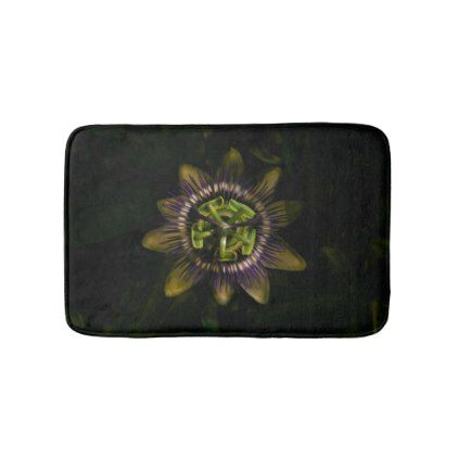 #simple - #passiflower small bath mat