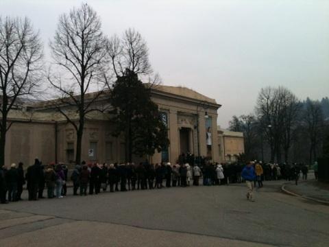 Cr Piemonte Ultimo giorno per la mostra su #Degas a #Torino. Guardate che coda! #ilmiopiemontepreferito quello che ama la #cultura!