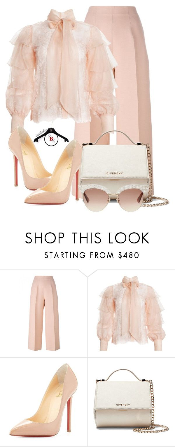 """""""Peachy"""" by spivey-adrian ❤ liked on Polyvore featuring Fendi, Talulah, Christian Louboutin, Givenchy and Gucci"""