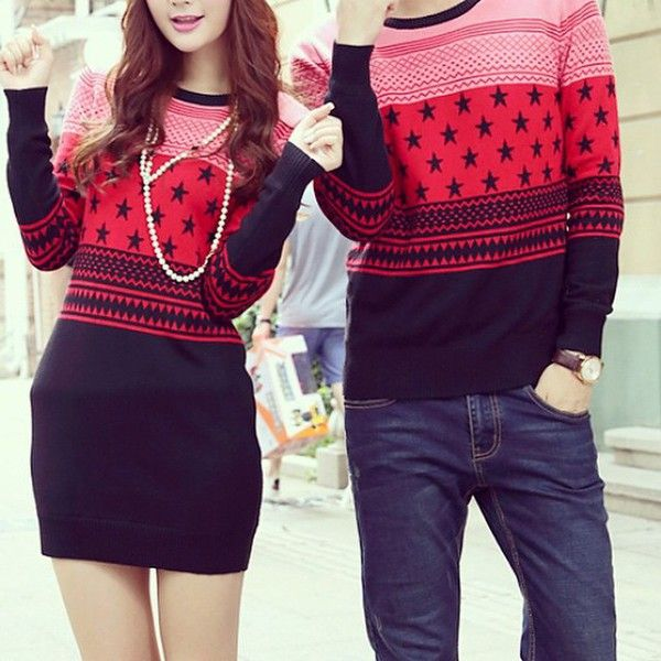Matching couple outfit