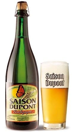 Cerveja Saison Dupont Biologique, estilo Saison / Farmhouse, produzida por Brasserie Dupont, Bélgica. 5.5% ABV de álcool.
