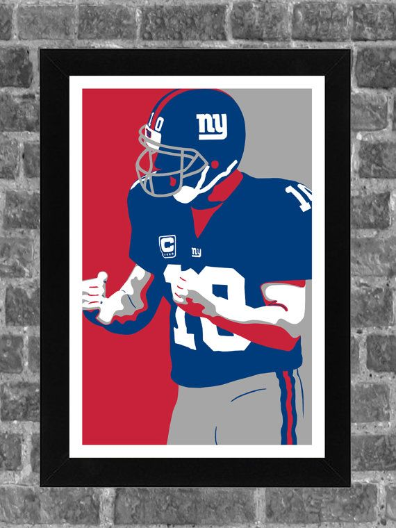 Hey, I found this really awesome Etsy listing at https://www.etsy.com/listing/241636481/new-york-giants-eli-manning-portrait