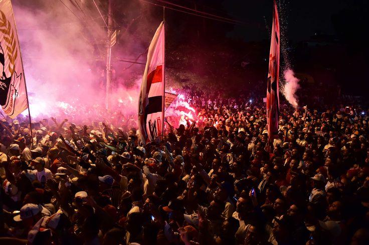 Vídeo mostra festa da torcida gravada pelos jogadores do São Paulo; assista #globoesporte
