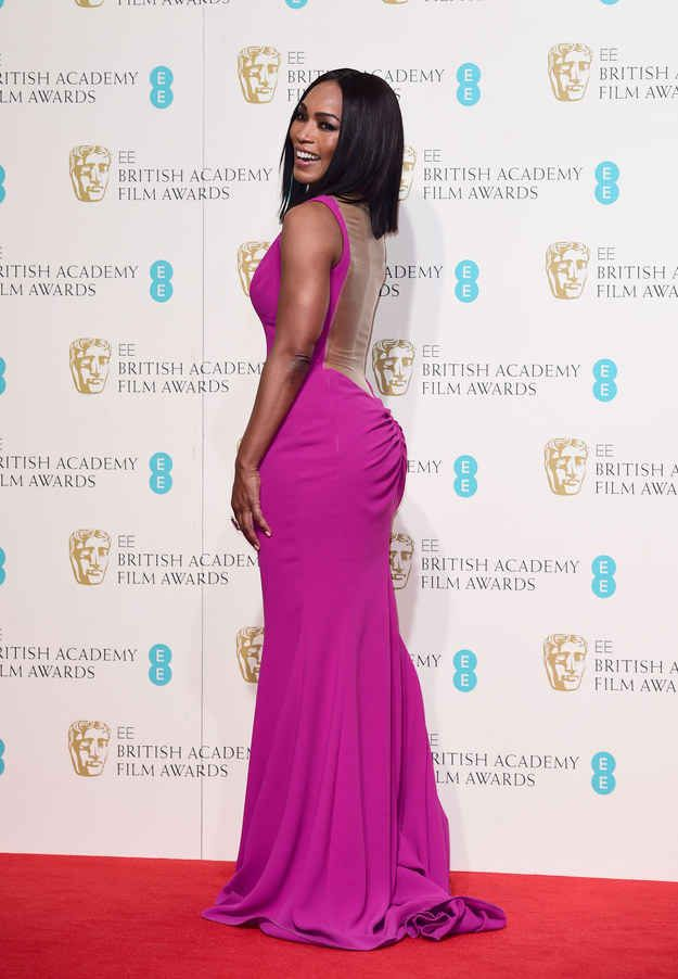 Can we just take a moment to appreciate how incredible Angela Bassett looked on the red carpet of the BAFTAs in London?