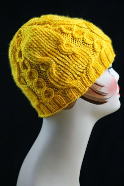 Knitting A Hat In The Round On Circular Needles : Twisted cable knit hat circular knitting needles