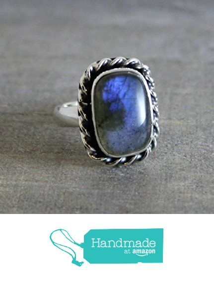 Free Form Cabochon OOAK Labradorite Sterling Silver Ring, size 9 from Sophia Rose Jewellery https://www.amazon.com/dp/B01LYQ9NA6/ref=hnd_sw_r_pi_dp_3IJ.xbH67JXGB #handmadeatamazon