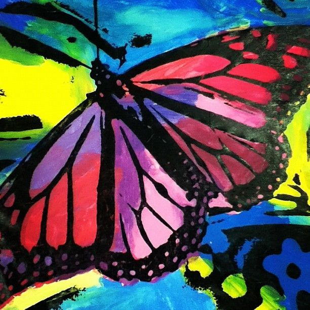 Andy Warhol Butterfly Painting Andy Warhol Andy Warhol