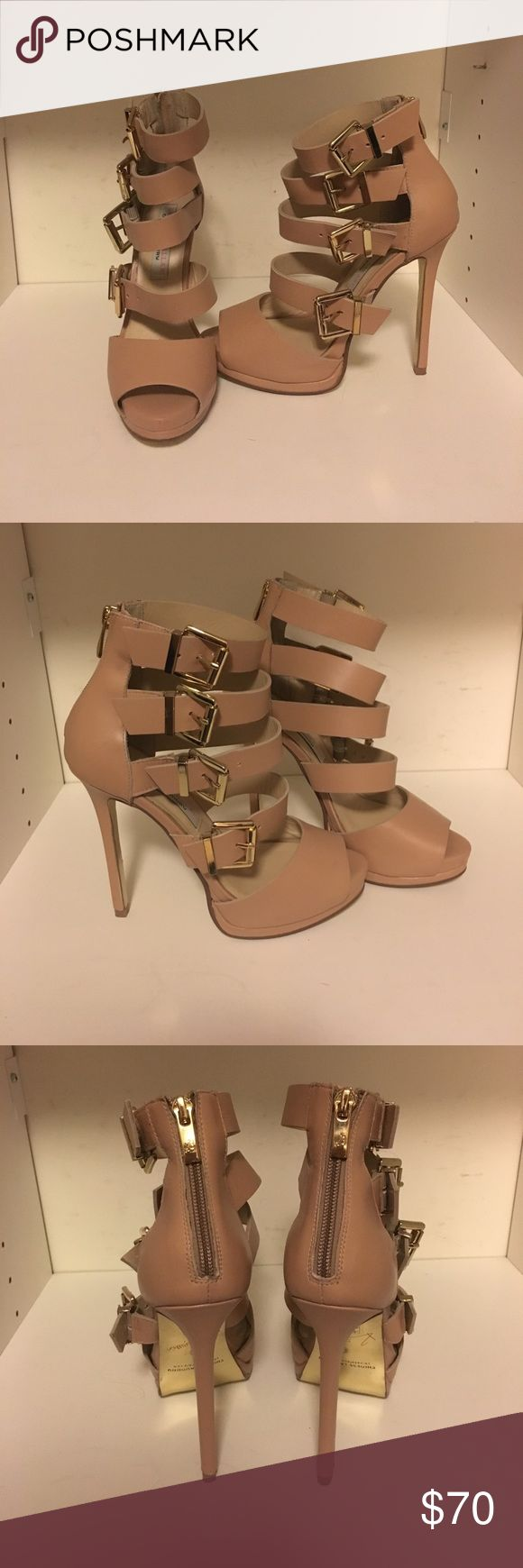 Kristin Cavallari Chinese Laundry strappy heels Kristin Cavallari Chinese Laundry strappy heels, nude, size 6.5, worn once. Chinese Laundry Shoes Heels