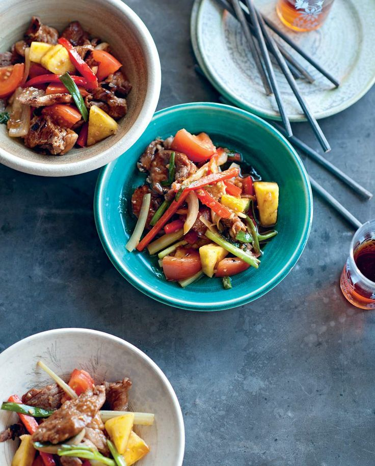 Stir-fried pork with sweet pineapple and vegetables by Luke Nguyen from The Food of Vietnam | Cooked