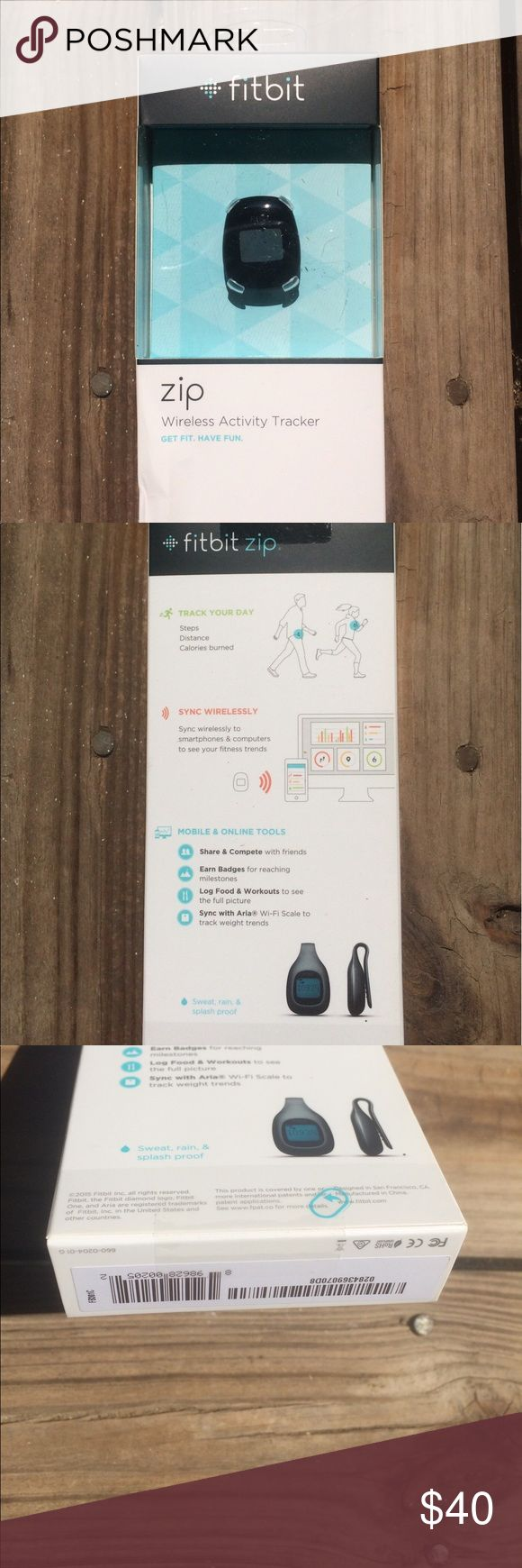 New Fitbit Zip- never opened New Fitbit in package. Activity tracker that syncs wirelessly. Tracks steps, distance and calories burned. Fitbit Zip Other