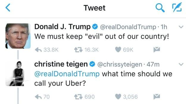 And when Chrissy Teigen replied to one of Trump's tweets. | 24 Times Twitter Was Savage As Fuck