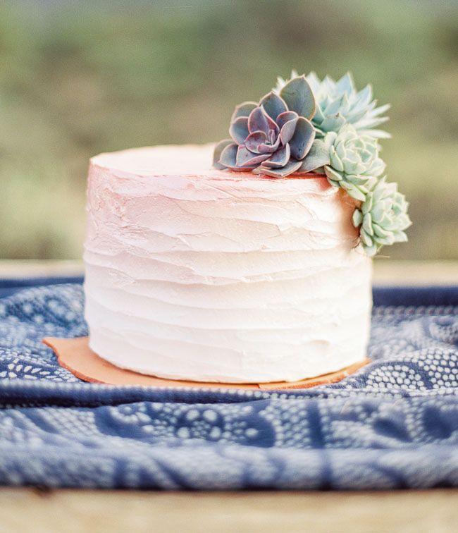 Pink desert ombre cake