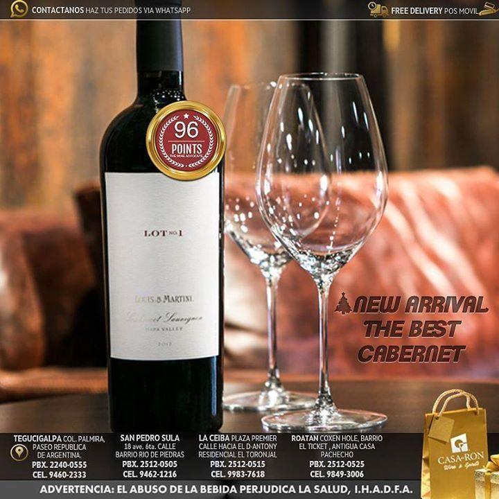 El mejor #Cabernet de California de la prestigiosa bodega de Louis Martini Winery ya disponible en todas nuestras tiendas de Casa del Ron#NavidadCasadelRon Siguenos en Instagram y Twitter como #WineSpirits http://ift.tt/2B0mZpo