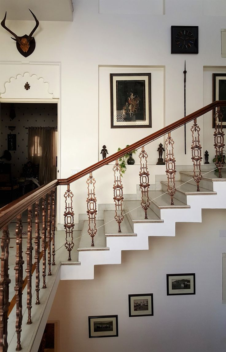 Grand staircase of a house in Udaipur, Rajasthan, India. katiesargentdesign.com
