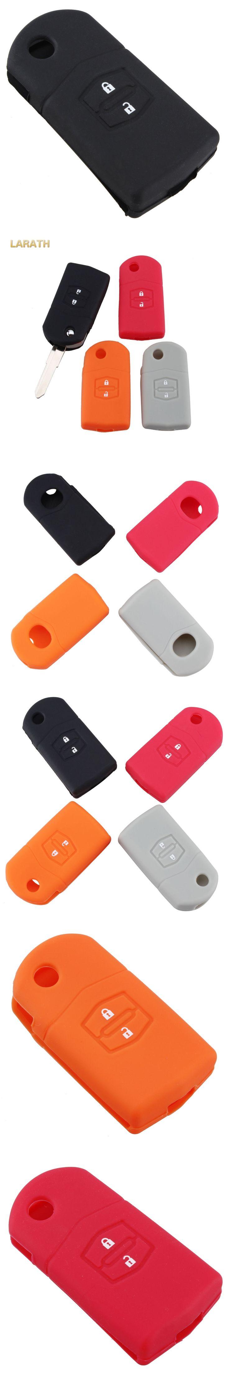 LARATH Silicone Case Remote Key Covers for Mazda 2 3 5 6 M5 CX7 CX9 RX 2 Buttons Car Flip Key Protective Case