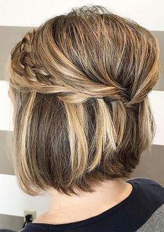 23 erstaunliche kurze Frisuren für Hochzeiten