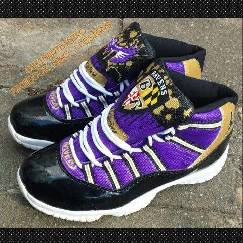 Custom Baltimore Ravens jordan 11s by me Niko J. Visit me ...