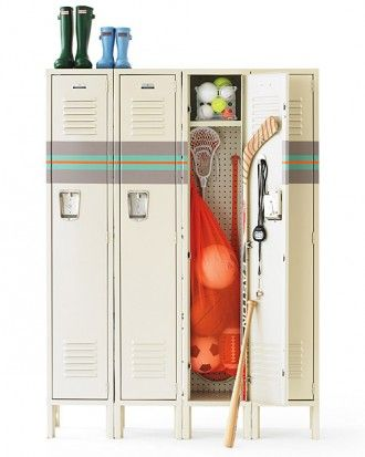 CLUTTER CONTROL   Lockers can serve as catchalls at home for your kids' mountains of stuff.