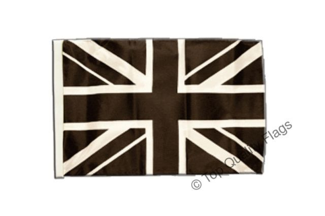 "Great Britain Union Jack black Banner 30x45cm – 18""x12"" Small Flag 