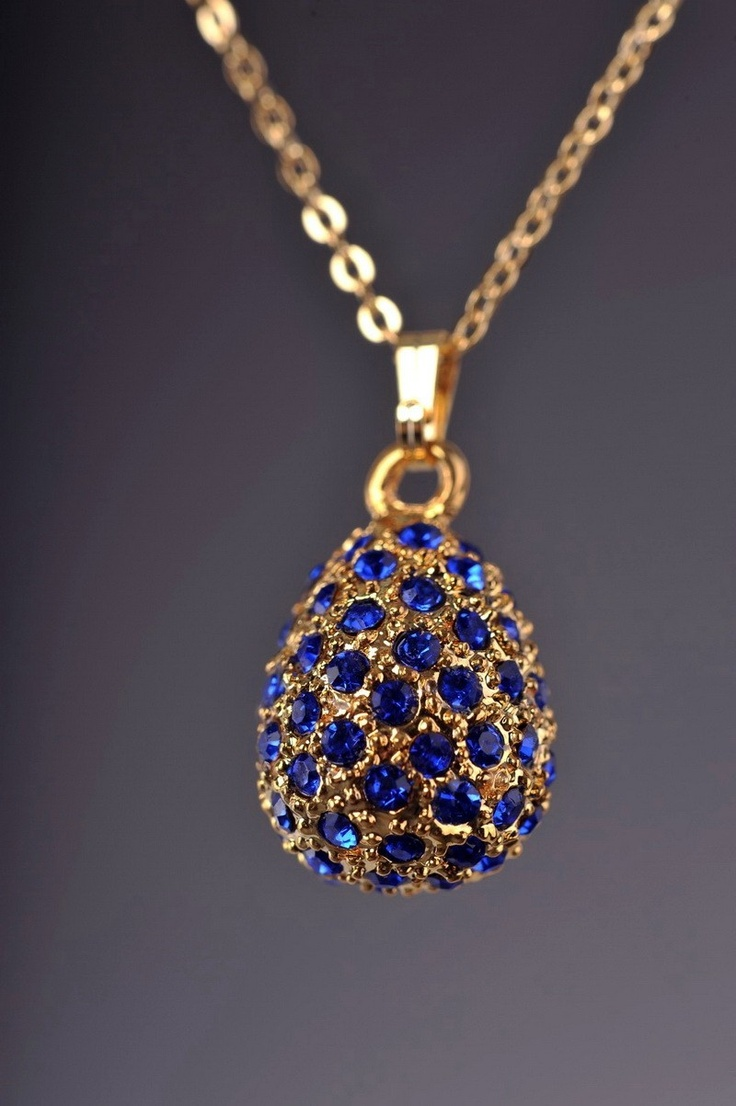 1047 best jewelry by faberge images on pinterest faberge eggs faberge easter egg necklace by keren kopal gold plated pendant blue crystals each item is mozeypictures Gallery