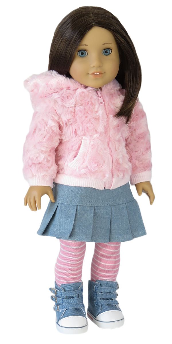 Silly Monkey - Soft and Cozy Jacket, Skirt, and Tights, $22.00 (http://www.silly-monkey.com/products/ag-doll-soft-and-cozy-jacket-skirt-and-tights.html)