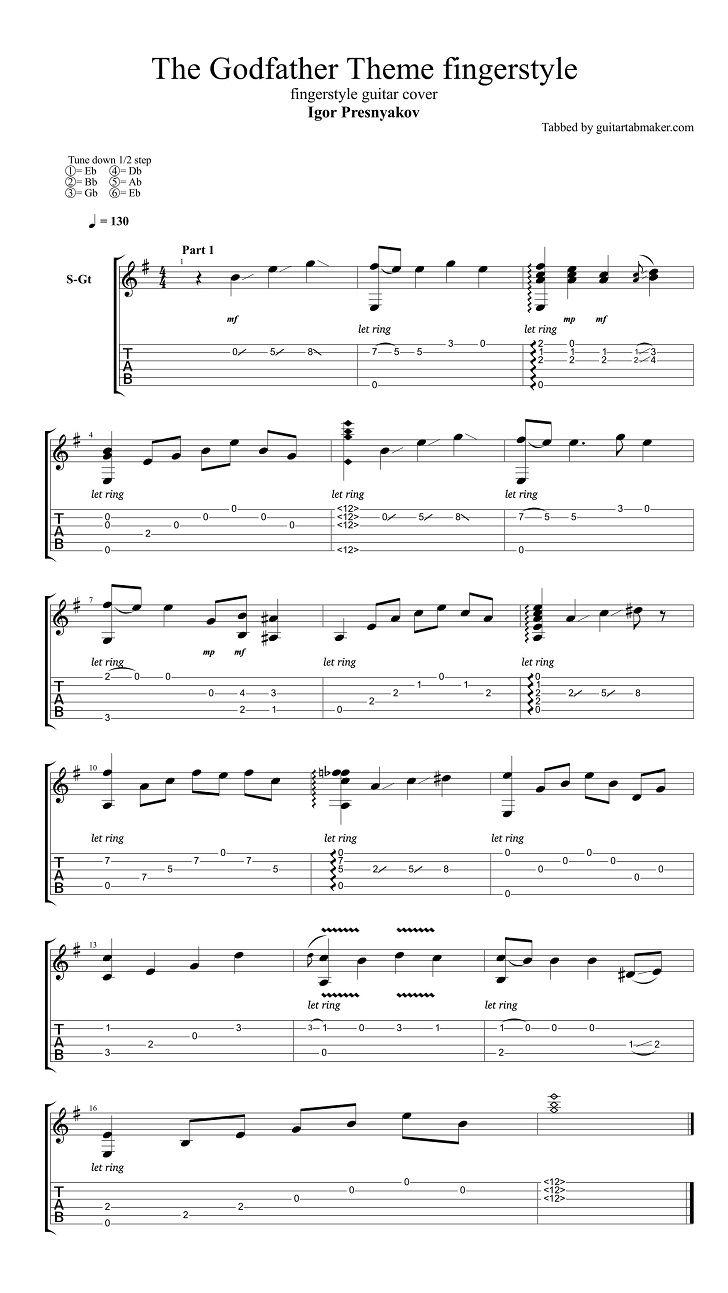 Igor Presnyakov - The Godfather theme fingerstyle guitar ...  Fingerstyle