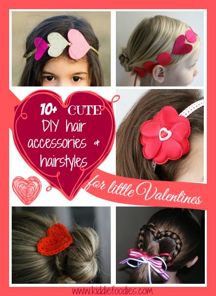 10 cute DIY hair accessories & hairstyles for little Valentines