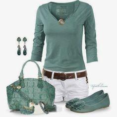 Women Fashion  I'd wear it with white capris