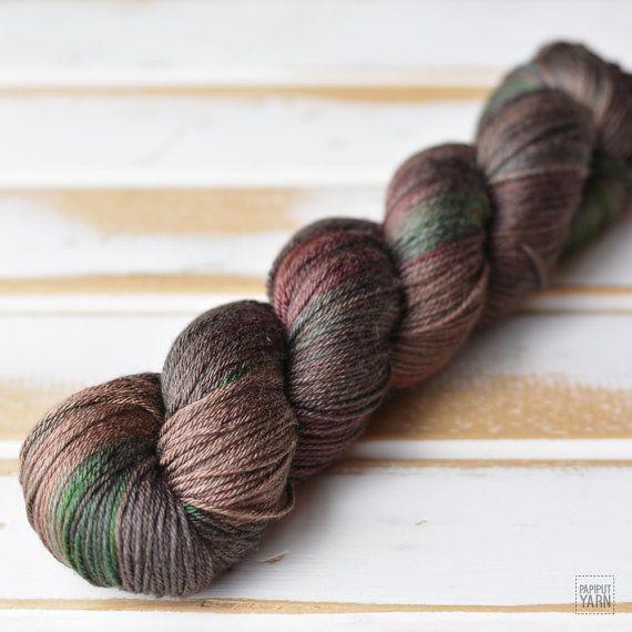 Hand Dyed Silky Merino Sport in Ebben colorway by Papiput Yarn | papiputyarn.etsy.com #knitting #handdyed #yarn