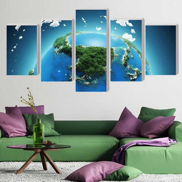 Earth Modern Home Wall Decor Pictures for