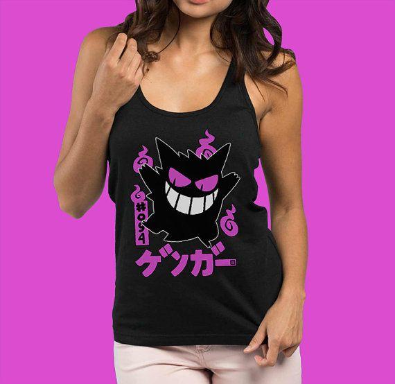 SHINY Gengar Pokemon Tank Top Women's Pokemon Shirt